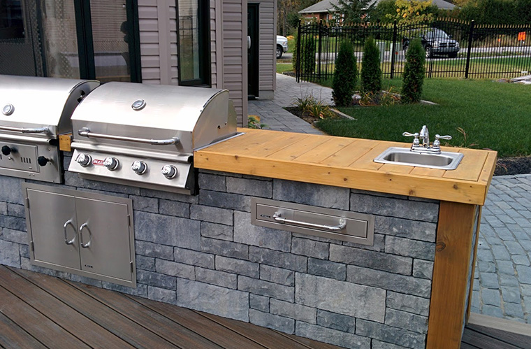 Amenagement cuisine exterieure four pizza extrieur grill - Barbecue de terrasse ...